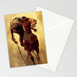 """N C Wyeth Vintage Western Painting """"Indian Lance"""" Stationery Cards"""