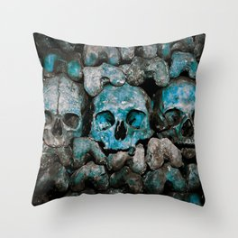 We Three Skulls Throw Pillow