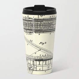 Extension Fire Ladder and Truck-1894 Travel Mug
