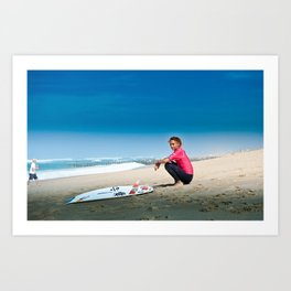 Sally Fitzgibbons Surf, Hossegor- France - 2013 Art Print