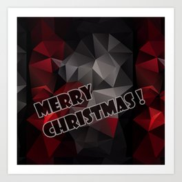 Polygon triangles . Merry Christmas ! Art Print