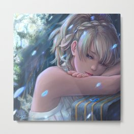 Final Fantasy XV - Lunafreya Metal Print