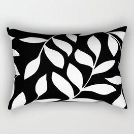 WHITE AND BLACK LEAVES DESIGN PATTERN Rectangular Pillow