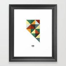 Geometric Nevada Framed Art Print