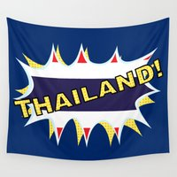 thailand Wall Tapestries featuring Thailand by mailboxdisco