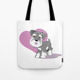 Miniature Schnauzer Puppy Dog Adorable Baby Love Tote Bag