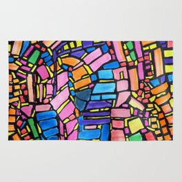 Stained Glass Montage Rug