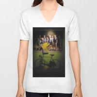 tour de france V-neck T-shirts featuring tour de france by Emanuele Reina