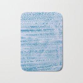Blue Water Aqua Splash Beading Bouy Bath Mat