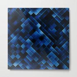 Abstract dark blue Metal Print
