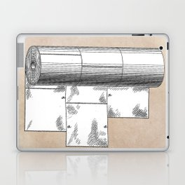 patent art Wheeler Wrapping of toilet paper 1894 Laptop & iPad Skin