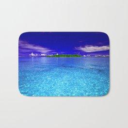 Shimmering Tropical Caribbean Island Waters Bath Mat