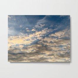 Adirondack Sunset Clouds Metal Print