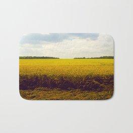 Prairie Landscape Bright Yellow Wheat Field Bath Mat
