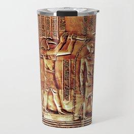 Egyptian Thoth Horus Hieroglyph Pyramid Travel Mug