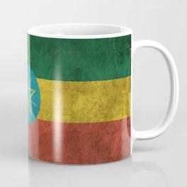 Old and Worn Distressed Vintage Flag of Ethiopia Coffee Mug
