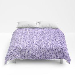 Ultra violet light purple glitter sparkles Comforters