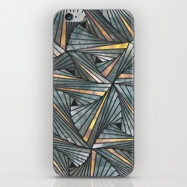 Mesh (Grey and Copper) iPhone Skin