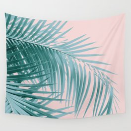 Palm Leaves Blush Summer Vibes #3 #tropical #decor #art #society6 Wall Tapestry