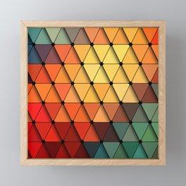 Colorful triangular grid Framed Mini Art Print