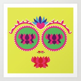 Indian face Art Print