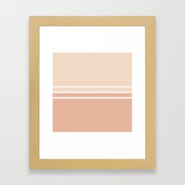 Lines Rose Framed Art Print