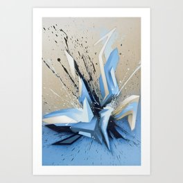 Cold Explosion Art Print