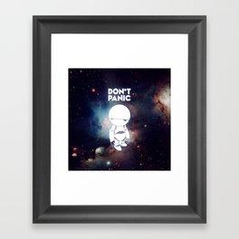 Don't Panic Marvin Framed Art Print