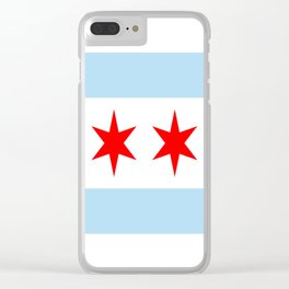 American cities-  Flag of  Chicago Clear iPhone Case