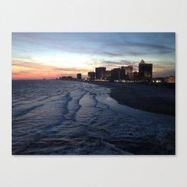 Atlantic City at Sunset Canvas Print