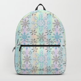 Christmas, Glistening Pearls of Frozen Snow Backpack