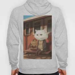 A cat waiting for someone Hoody
