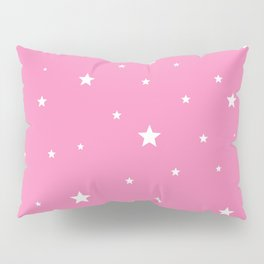Scattered Stars on Pink Pillow Sham
