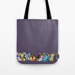 Eeveelutions Go To Hogwarts Tote Bag