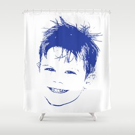 Happy Lad Shower Curtain