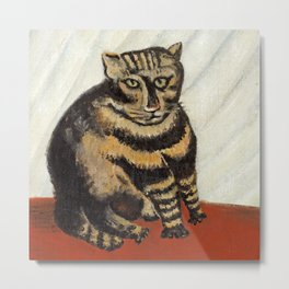 "Henri Rousseau ""The Tiger Cat"" Metal Print"