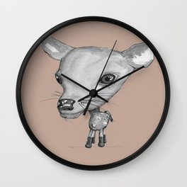 NORDIC ANIMAL - DEDE THE DEER  / ORIGINAL DANISH DESIGN bykazandholly  Wall Clock