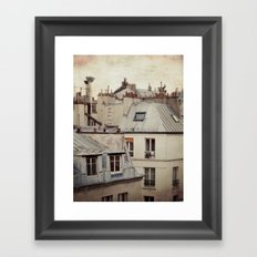 Paris roofs Framed Art Print