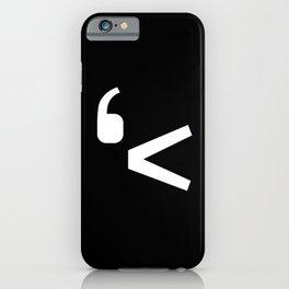 emotikwack black iPhone Case