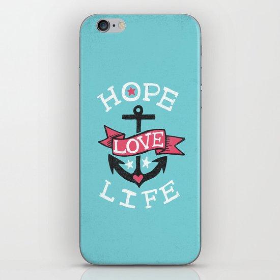 HOPE LOVE LIFE - ANCHOR iPhone & iPod Skin