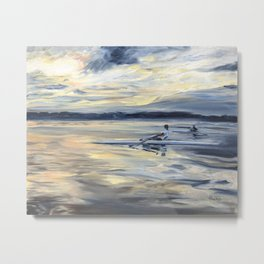 Singles at Dusk on Lake Mary Jane Metal Print