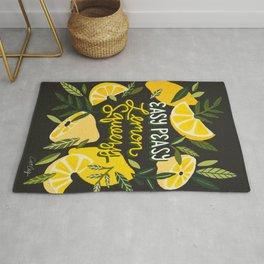 Easy Peasy Lemon Squeezy Citrus – Charcoal Palette Rug