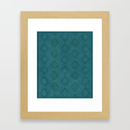 Moroccan Teal Painted Desert Framed Art Print