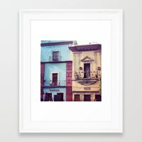 mexican Framed Art Prints featuring Mexican houses by Olivier P.