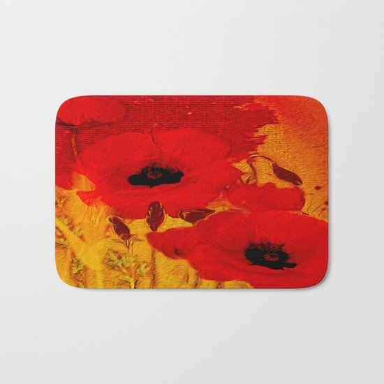 FLOWERS - Mellow yellow Bath Mat