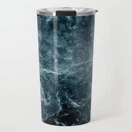 Enigmatic Deep Blue Ocean Marble #1 #decor #art #society6 Travel Mug