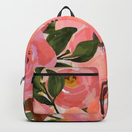 Watercolor flowers and plants 02 Backpack