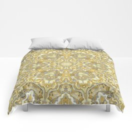 Orange and Yellow Kaleidoscope 1 Comforters