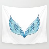angel wings Wall Tapestries featuring Angel Wings by eARTh