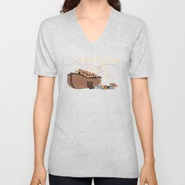 And They Came Two By Two Noahs Ark Animal Lover Unisex V-Neck